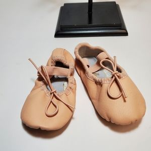 STELLE Infant (9mos) Leather Ballet Shoes